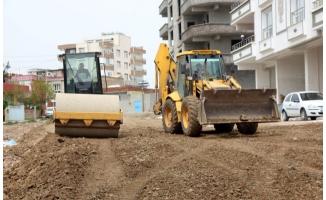 Siverek'teki yeni yerleşim alanlarında yol yapım çalışmaları