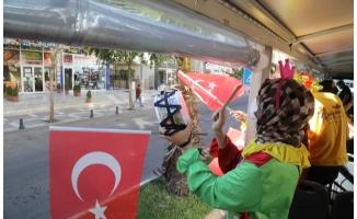 Urfa'da gönüllü paylaçolardan 23 Nisan'a özel etkinlik