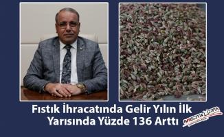 Fıstık ihracatında gelir yüzde 136 arttı