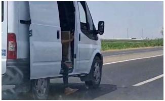 Şanlıurfa'da küçük çocuğun tehlikeli yolculuğu