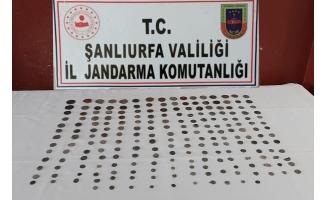 Şanlıurfa'da 210 sikke ele geçirildi