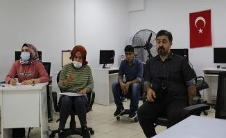 Haliliye'de engellilere yönelik E-KPSS kursu