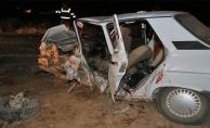 Harran'da iki otomobil çarpıştı: 7 yaralı