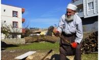 72 Yaşında Her Gün 2 Ton Odun Kırıyor