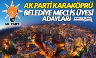 AK Parti Karaköprü Belediye Meclis Üyesi Adayları