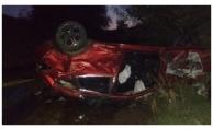 Sivas'ta otomobil devrildi: 2 ölü, 6 yaralı
