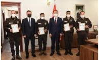 Şanlıurfa'da Dikkatli Bekçilere Başarı Belgesi Verildi