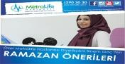 Metro Life Hastanesinden Ramazanda Beslenme Önerileri