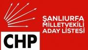 CHP'nin Şanlıurfa Milletvekili aday listesi belli oldu