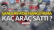 Urfa'da hangi marka kaç araç sattı ?