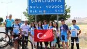 Kadın Bisikletçiler Şanlıurfa'da