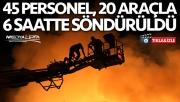 Şanlıurfa'da iplik fabrikası yandı