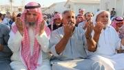 Urfa'daki Suriyeli sığınmacılar bayram namazında