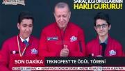 Cumhurbaşkanı Erdoğan, Urfalı öğrenciye plaket verdi!