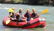 Tunceli'de vali ve milletvekilleri rafting yaptı