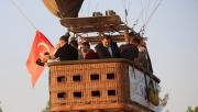 Göbeklitepe'de sıcak hava balonuyla tanıtım uçuşu