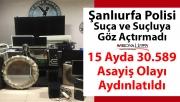 Şanlıurfa Polisi Suça ve Suçluya Göz Açtırmadı