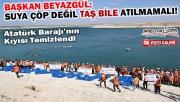 Bin gencin katılımıyla Atatürk Barajı'nın kıyısı temizlendi